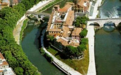 Isola Tiberina, una isola-nave nel centro di Roma