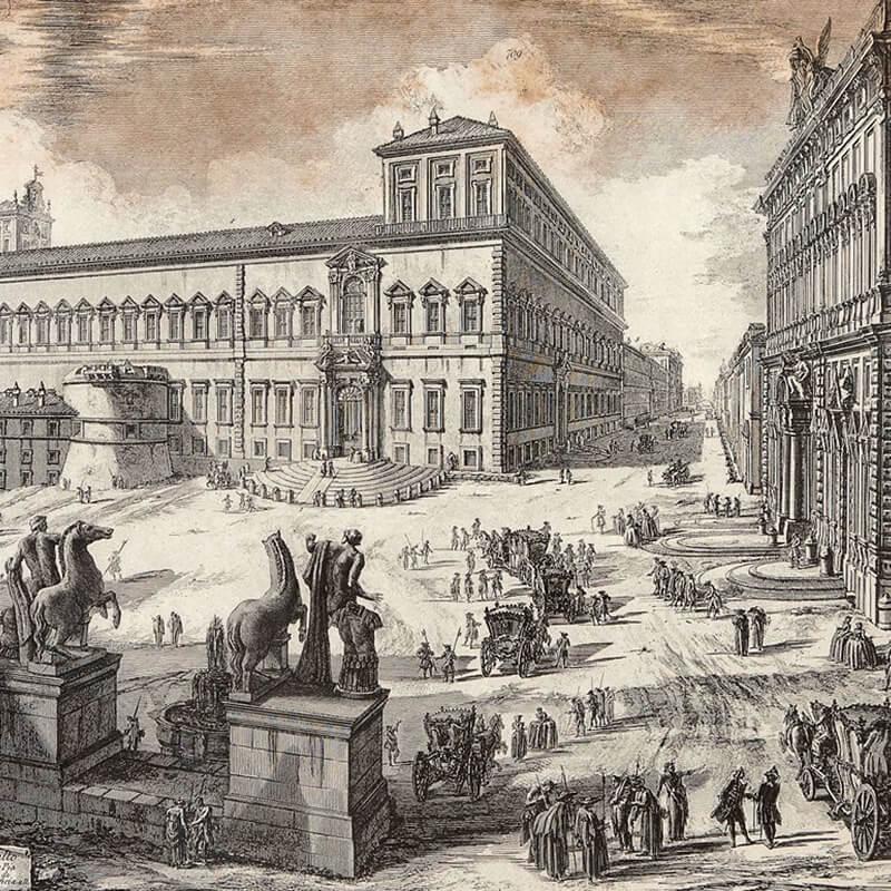 RomaGuideTour - Visite guidate a Roma   Rione Trevi: Palazzo Quirinale by Piranesi