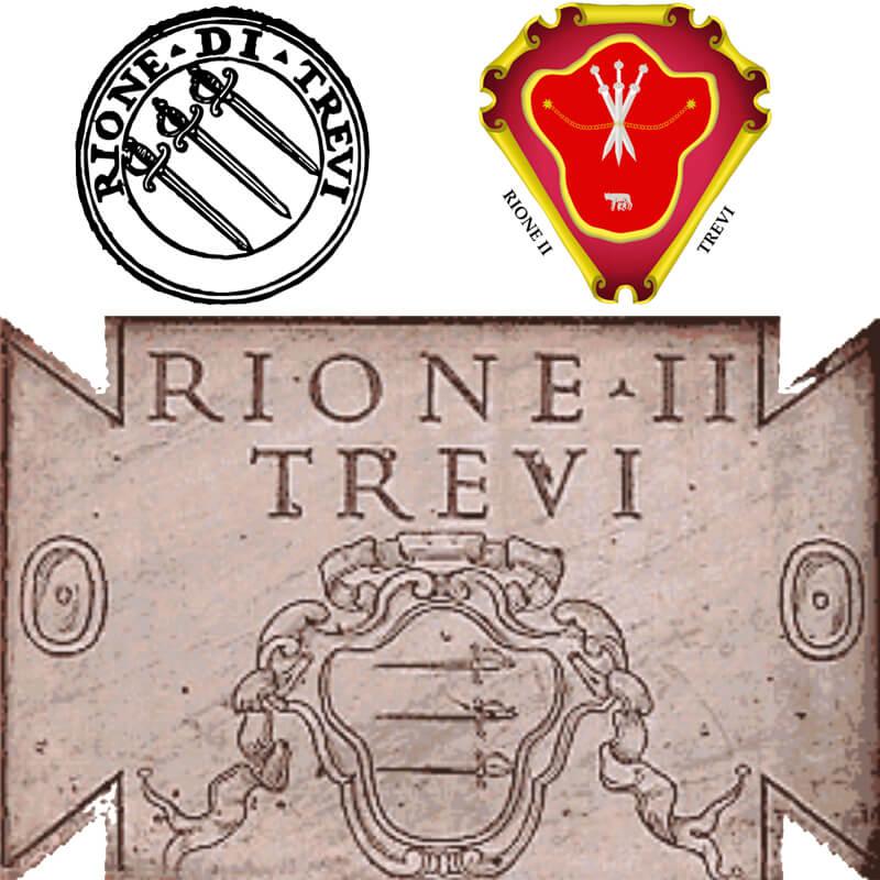 RomaGuideTour - Visite guidate a Roma   Rione Trevi: Simboli Rione Trevi